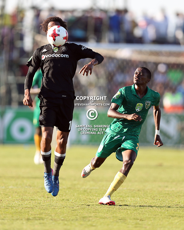 Issa Sarr of Orlando Pirates during the Nedbank Cup semi-final Golden Arrows and Orlando Pirates at the Princess Magogo Stadium,Durban on May 21 , 2017 <br /> Credit Steve Haag