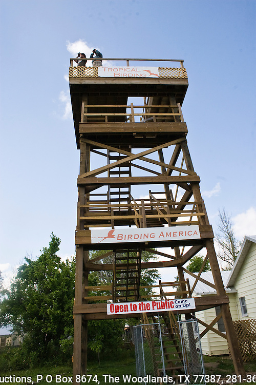 Three story, birdwatching tower, across the street from the Houston Audubon Society's High Island sanctuary.  Tower operated by Tropical Birding.