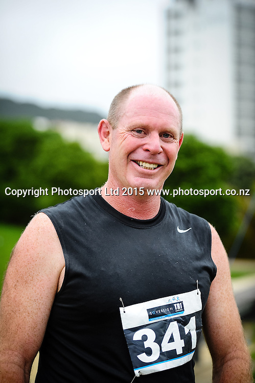 Edwin Jones Para Tri winner of the Sovereign Tri Series, Waterfront, Wellington, New Zealand. Saturday 14 March 2015. Copyright Photo: Mark Tantrum/www.Photosport.co.nz
