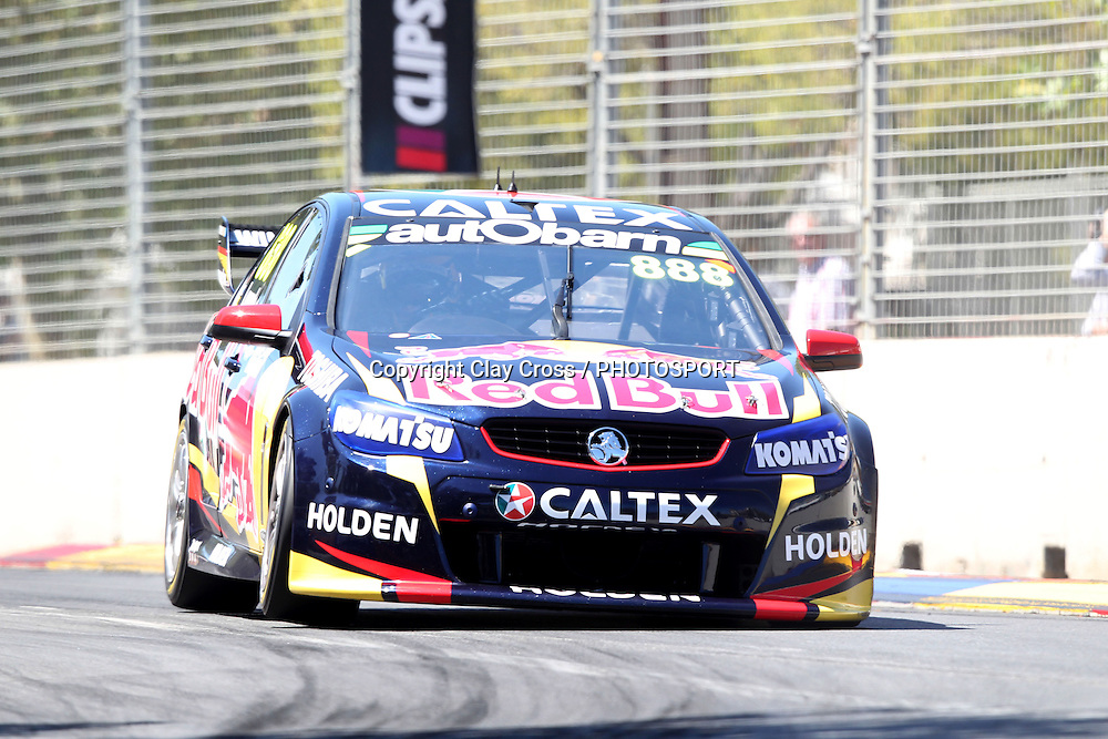 Craig Lowndes (Red Bull Racing Holden) 2nd place at the 2014 Clipsal 500 Adelaide ~ V8 Supercar Series Race 1 held on the Adelaide Parklands Circuit, South Australia on Saturday 1 March 2014. Photo: Clay Cross / photosport.co.nz