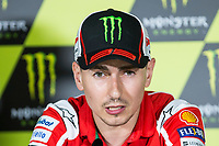 Jorge Lorenzo of Spain and Ducati Team during the press conference for the MotoGP of Catalunya at Circuit de Catalunya on June 10, 2017 in Montmelo, Spain.(ALTERPHOTOS/Rodrigo Jimenez)