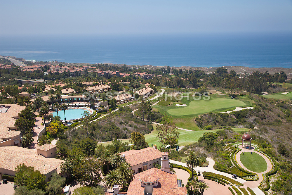 Panoramic View of The Resort at Pelican Hill and the Ocean in Newport Coast California