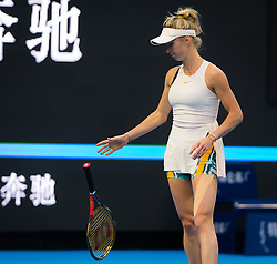 September 29, 2018 - Elina Svitolina of the Ukraine in action during her first-round match at the 2018 China Open WTA Premier Mandatory tennis tournament (Credit Image: © AFP7 via ZUMA Wire)