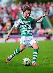 Yeovil Town's Luke Ayling - Photo mandatory by-line: Dougie Allward/Josephmeredith.com  - Tel: Mobile:07966 386802 08/09/2012 - SPORT - FOOTBALL - League 1 -  Yeovil  - Huish Park -  Yeovil Town v AFC Bournemouth