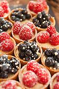 Fruit tarts in a dessert buffet