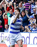 Picture by Andrew Tobin/Focus Images Ltd. 07710 761829. 24/03/12 Ian Harte of Reading celebrates scoring their first goal during the Npower Championship match at Madejski stadium, Reading.