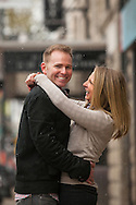 Melissa and Dave's engagement photo session took place in Lincoln Park at the Bourgeois Pig Cafe, Lincoln Hall and the Lincoln Park Zoo.
