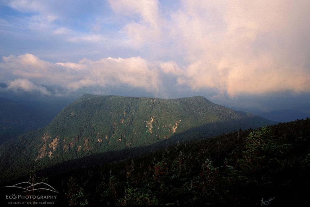 Appalachian Trail. Mahoosuc Mountain guards Mahoosuc Notch in Maine.  Mahoosuc Arm, ME
