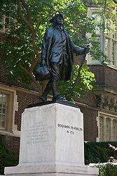 Statue of Benjamin Franklin in 1723, University of Pennsylvania, Philadelphia, Pennsylvania, United States of America