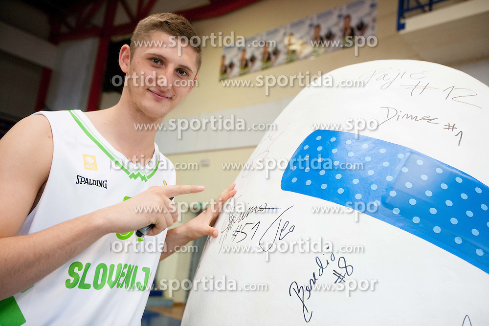 Gezim Morina during Open day of Slovenian U20 National basketball team before the European Chmpionship in Slovenia, on July 9, 2012 in Domzale, Slovenia.  (Photo by Vid Ponikvar / Sportida.com)