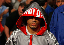 June 13, 2009; New York, NY, USA;  WBO Welterweight Champion Miguel Cotto makes his way to the ring for his bout against Joshua Clottey at Madison Square Garden.  Cotto retained his title via split decision.