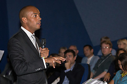 © Licensed to London News Pictures . 27/09/2015 . Brighton , UK . CHUKA UMUNNA MP speaks at a Progress Rally fringe event at screen one of the Odeon Cinema on Brighton seafront , during the 2015 Labour Party Conference . Photo credit : Joel Goodman/LNP
