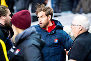 G&Ouml;TEBORG SVERIGE - 2017-11-11: &Ouml;rgryte Johan Elmander g&aring;r till angrepp mot flera Mj&auml;llbyspelare direkt efter  kvalmatchen till Superettan mellan &Ouml;rgryte IS och Mj&auml;llby AIF p&aring; Gamla Ullevi den 11 november i G&ouml;teborg, Sverige.<br /> Foto: Jonas Gustafsson/Ombrello<br /> ***BETALBILD***