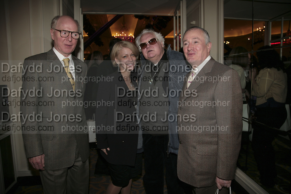 Gilbert and George, Elise  and Ken Russell, The South Bank Show Awards, Savoy Hotel. London. 23 January 2007.  -DO NOT ARCHIVE-© Copyright Photograph by Dafydd Jones. 248 Clapham Rd. London SW9 0PZ. Tel 0207 820 0771. www.dafjones.com.