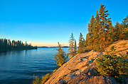 Lake Athapapuskow at sunrise<br />