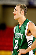11/23/2006 - Anchorage, Alaska: Junior guard Matt Gibson (2) of the Hawaii Warriors reacts to a foul call as Hawaii defeats Hofstra 80-79 at the 2006 Great Alaska Shootout on Thanksgiving night<br />