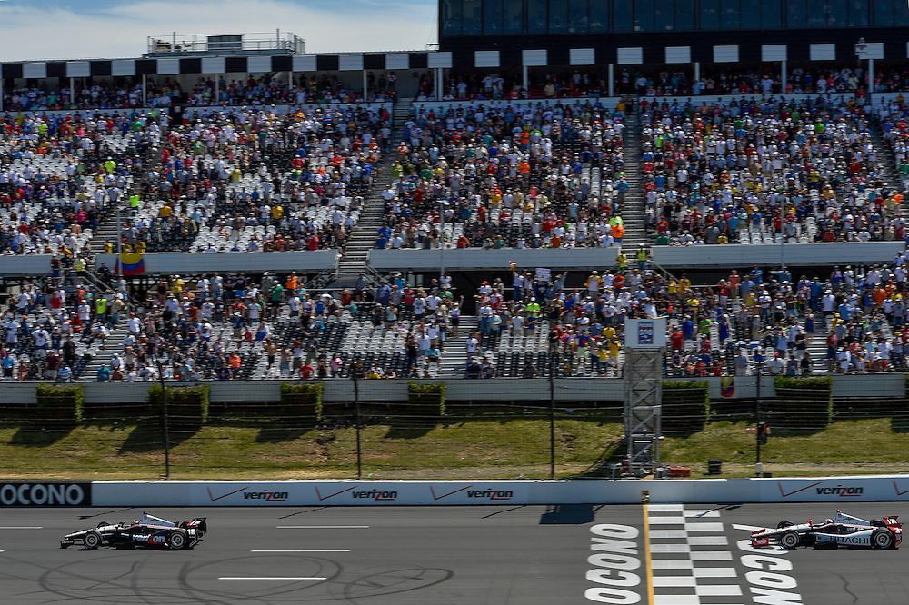 Will Power, Helio Castroneves, Pocono Raceway, USA 7/6/2014