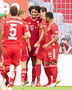 GOAL Jubel Bayern, Joshua ZIRKZEE, FCB 35 celebrates his goal, happy, laugh, celebration, 1-0 during the Bayern Munich vs Borussia Monchengladbach Bundesliga match at Allianz Arena, Munich, Germany on 13 June 2020.