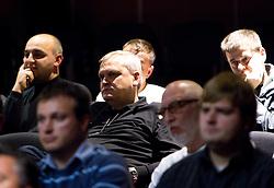 Rokometni trener Matjaz Tominec na okrogli mizi o krizi slovenskega rokometa danes, 26. oktober 2010, kongresna dvorana Mercurius, BTC City, Ljubljana, Slovenija. (Photo by Vid Ponikvar / Sportida)
