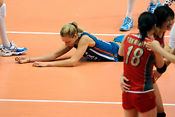 21-08-2009 VOLLEYBAL: WGP FINALS JAPAN - NEDERLAND: TOKYO<br /> Japan wint met 3-0 van Nederland / Manon Flier<br /> ©2009-WWW.FOTOHOOGENDOORN.NL