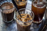 HANOI, VIETNAM - CIRCA SEPTEMBER 2014:  Cold coffee in the streets of Hanoi, Vietnam.