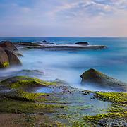 Aliso Creek Point Shoreline (90 Second Exposure) - Sunset