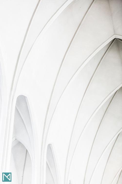 The roof of Hallgrímskirkja church in Reykjavík, designed by Guðjón Samúelsson (personal project)
