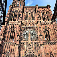 Strasbourg Cathedral Western Fa&ccedil;ade in Strasbourg, France <br />