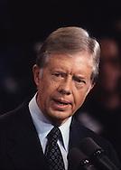 President Jimmy Carter speaking in October 1979<br /> <br /> Photograph by Dennis Brack<br /> bb45