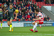 Doncaster Rovers Forward John Marquis (9) during the EFL Sky Bet League 1 match between Doncaster Rovers and Bristol Rovers at the Keepmoat Stadium, Doncaster, England on 27 January 2018. Photo by Craig Zadoroznyj.