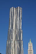 New York  , The Beekman tower, new Gehry building under construction in lower manhattan  area and the Woolworth building