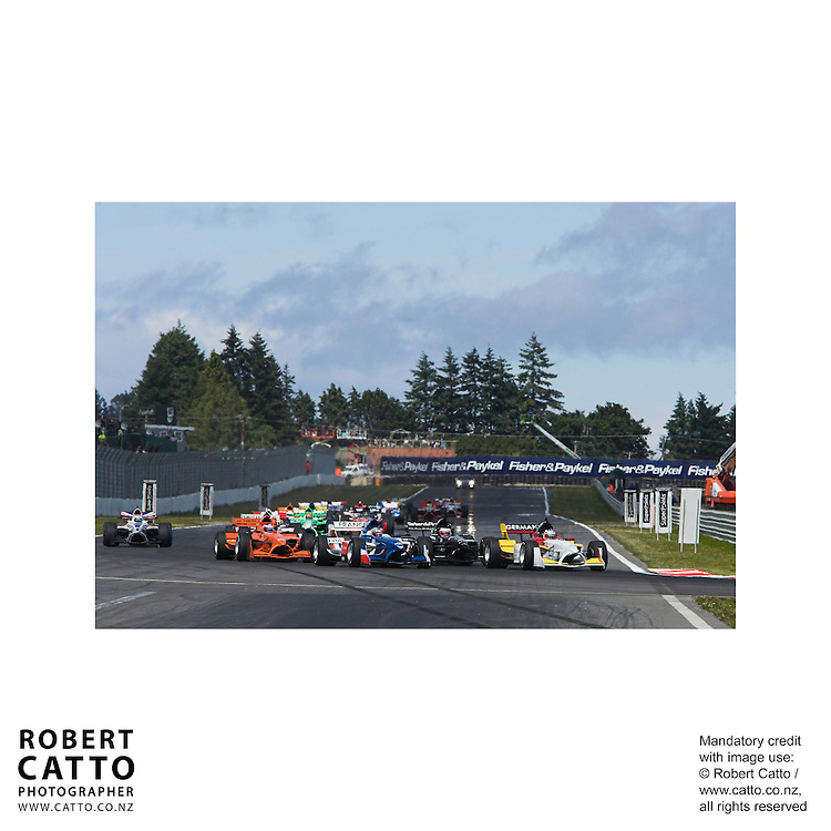Nico Hulkenberg;Loic Duval;Jonny Reid;Jeroen Bleekemolen at the A1 Grand Prix of New Zealand at the Taupo Motorsport Park, Taupo, New Zealand.