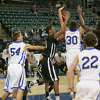 Blue Jay forward Like Schroepher (30) attemts to intercept a UCity pass