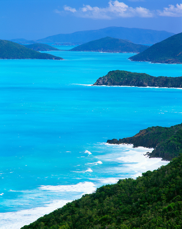 6202-1003NF ~ Copyright: George H. H. Huey ~ Tortola Island, looking east toward Virgin Gorda Island.  Caribbean Sea.  British Virgin Islands.