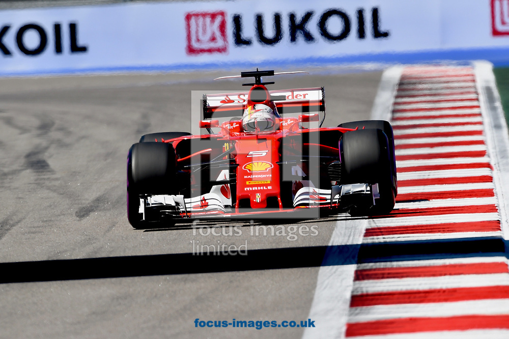 Sebastian Vettel of Scuderia Ferrari en route to coming second in the Russian Formula One Grand Prix at Sochi Autodrom, Sochi, Russia.<br /> Picture by EXPA Pictures/Focus Images Ltd 07814482222<br /> 30/04/2017<br /> *** UK & IRELAND ONLY ***<br /> <br /> EXPA-EIB-170430-0320.jpg