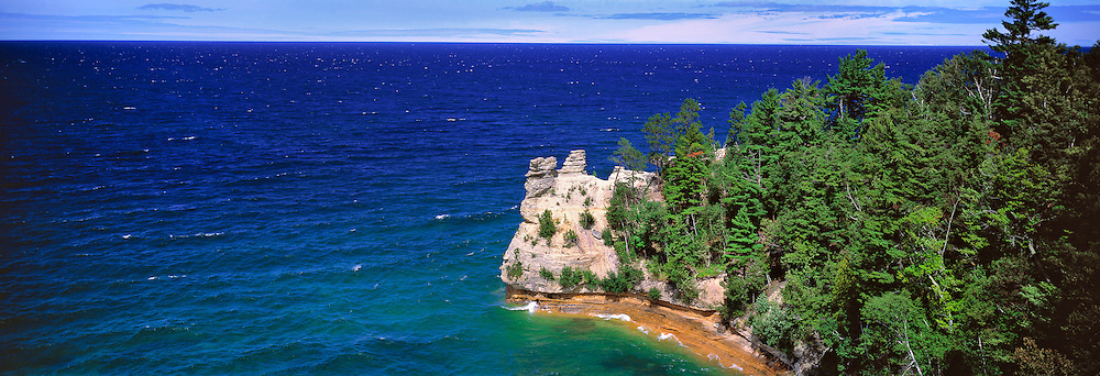 Miners Point juts into Lake Superior at Pictured Rocks National Lakeshore on Michigan's Upper Peninsula.