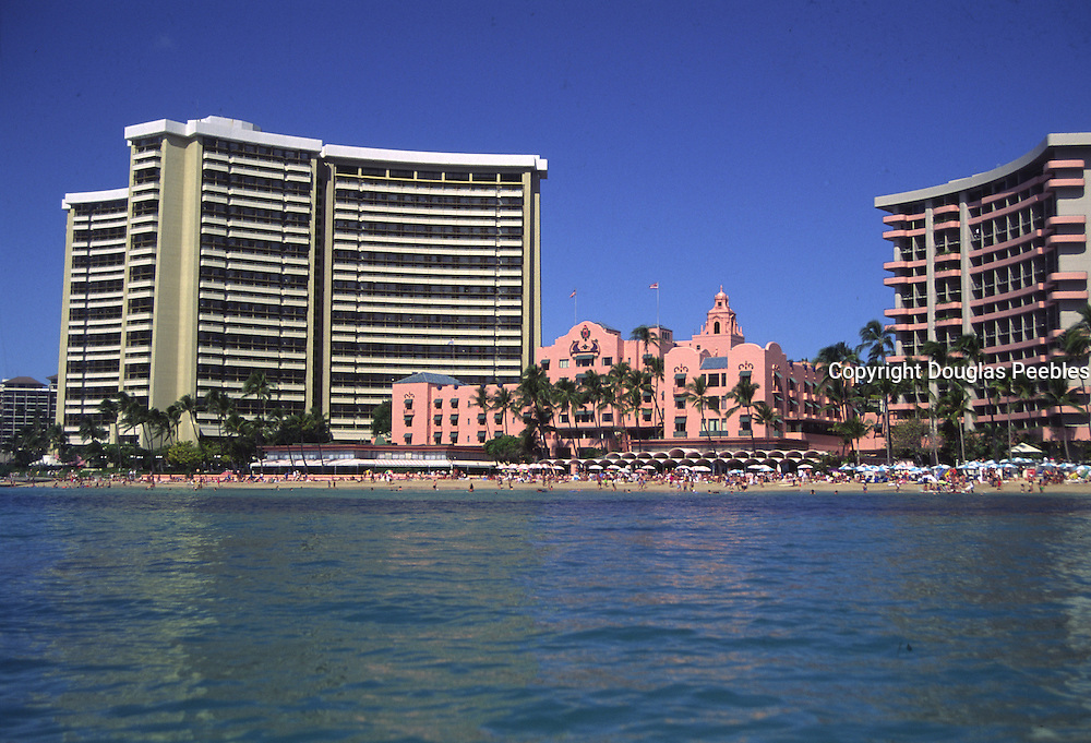 Royal Hawaiian Hotel, Waikiki Beach, Oahu, Hawaii<br />