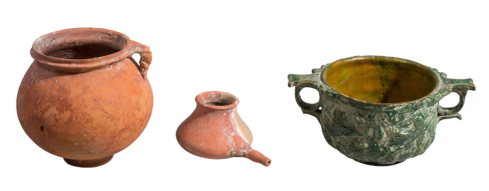 Nabatean clay vessels 1st century BC 9-14 cm
