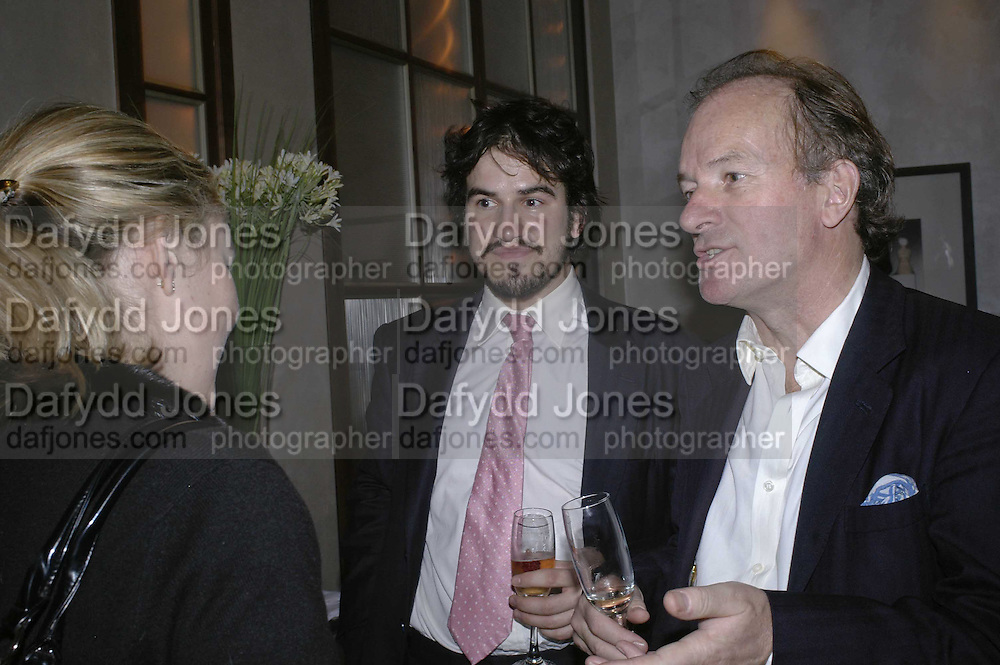 Charlie Campbell and David Campbell, Charles Finch and Weidenfeld and Nicolson host a party to celebrate the publication of 'Dancing Into Battle' by Nick Foulkes. The Westbury Hotel, Conduit St. London. 14 December 2006. ONE TIME USE ONLY - DO NOT ARCHIVE  © Copyright Photograph by Dafydd Jones 248 CLAPHAM PARK RD. LONDON SW90PZ.  Tel 020 7733 0108 www.dafjones.com