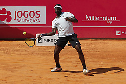 May 6, 2018 - Estoril, Estoril, Portugal - Frances Tiafoe from United States of America during the match between Joao Sousa vs Frances Tiafoe for Millennium Estoril Open 2018 at Clube de Tenis do Estoril on May 06, 2018 in Estoril, Portugal. (Credit Image: © Dpi/NurPhoto via ZUMA Press)