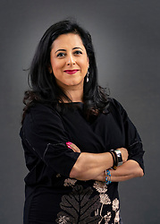 Edinburgh, Scotland, UK. 23 August 2019. Anita Anand. Anita Anand's book The Patient Assassin tells the story of the Amritsar Massacre in India. Iain Masterton/Alamy Live News.