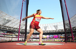 Spain's Sabina Asenjo competes in the Women's Discus Throw Qualifying during day eight of the 2017 IAAF World Championships at the London Stadium