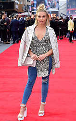 Gabby Allen attending the European premiere of Rampage, held at the Cineworld in Leicester Square, London. Picture date: Wednesday April 11, 2018. See PA story SHOWBIZ Rampage. Photo credit should read: Ian West/PA Wire