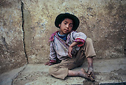 A boy from Todos Santos, Huehuetenango, Guatemala.