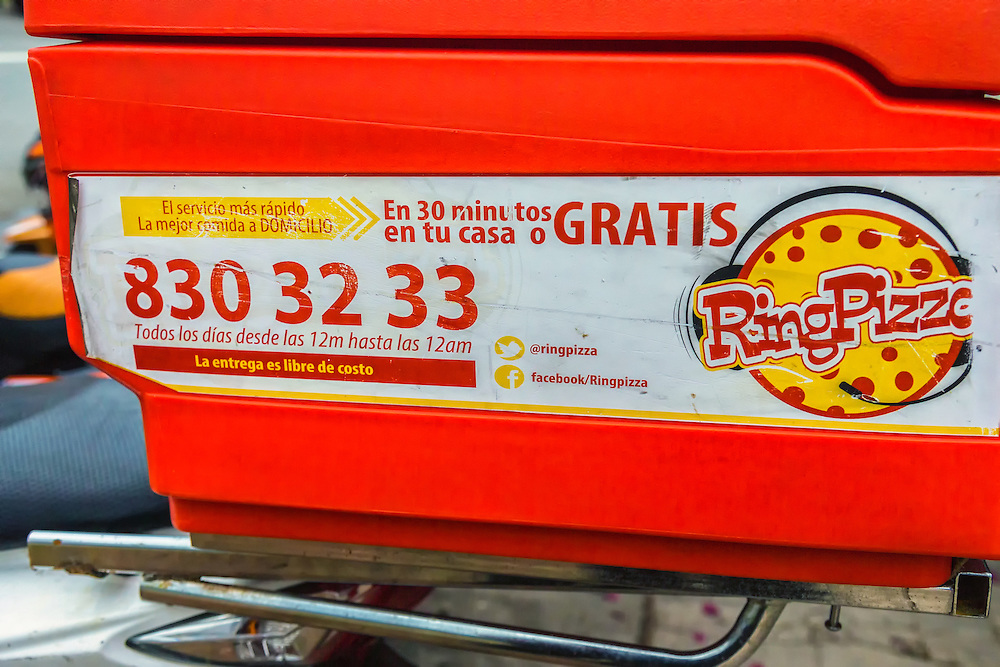 Ring Pizza Delivery in Havana Vedado, Cuba.