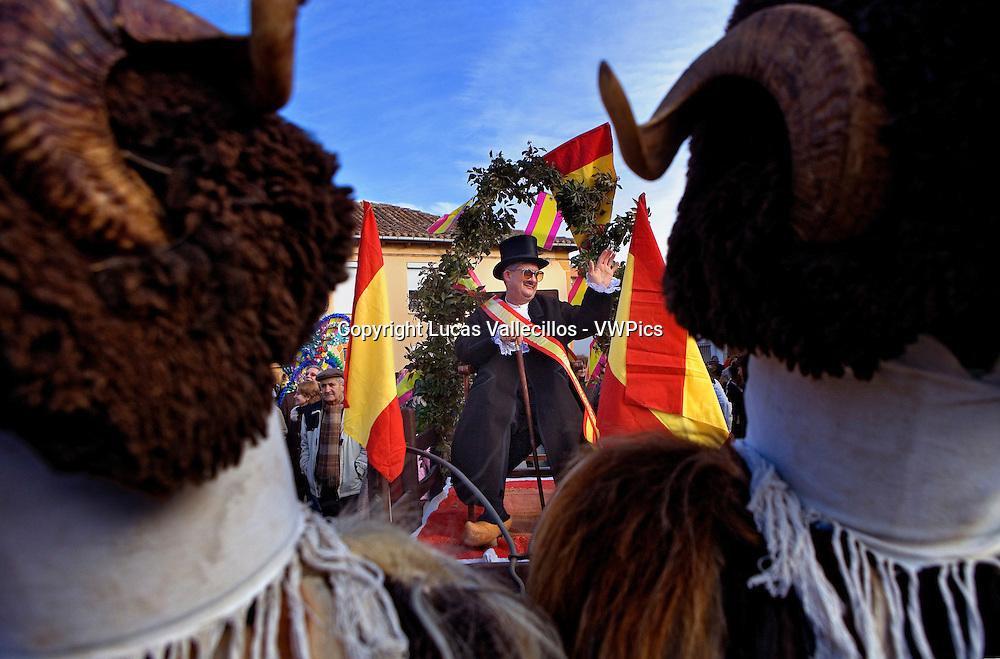 Antruejo (Carnival).Represents the mayor. Llamas de la Ribera. León. Castilla y León. Spain