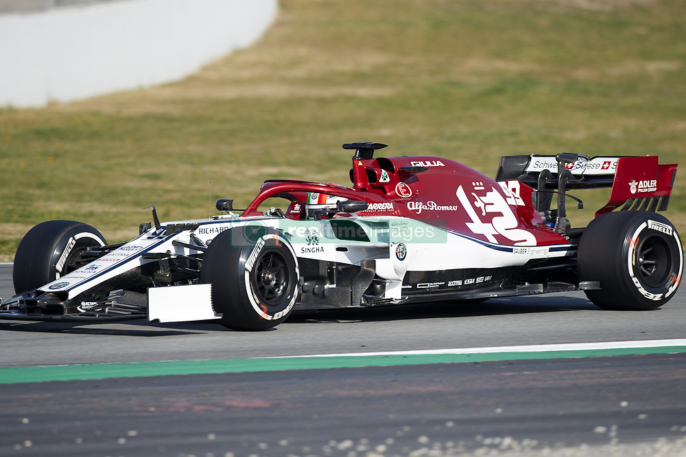 February 28, 2019 - Spain - Antonio Giovinazzi (Alfa Romeo Sauber F1 Team) C38 car, seen in action during the winter testing days at the Circuit de Catalunya in Montmelo  (Credit Image: © Fernando Pidal/SOPA Images via ZUMA Wire)