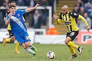 Ashley Chambers (Striker) Dagenham & Redbridge in action during the Sky Bet League 2 match between Hartlepool United and Dagenham and Redbridge at Victoria Park, Hartlepool, England on 12 March 2016. Photo by George Ledger.