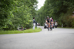 Aafke Soet (NED) of Parkhotel Valkenburg - Destil Cycling Team leads the break up on the penultimate climb near Buchenwald on Stage 3 of the Lotto Thuringen Ladies Tour - a 124 km road race, starting and finishing in Weimar on July 15, 2017, in Thuringen, Germany. (Photo by Balint Hamvas/Velofocus.com)