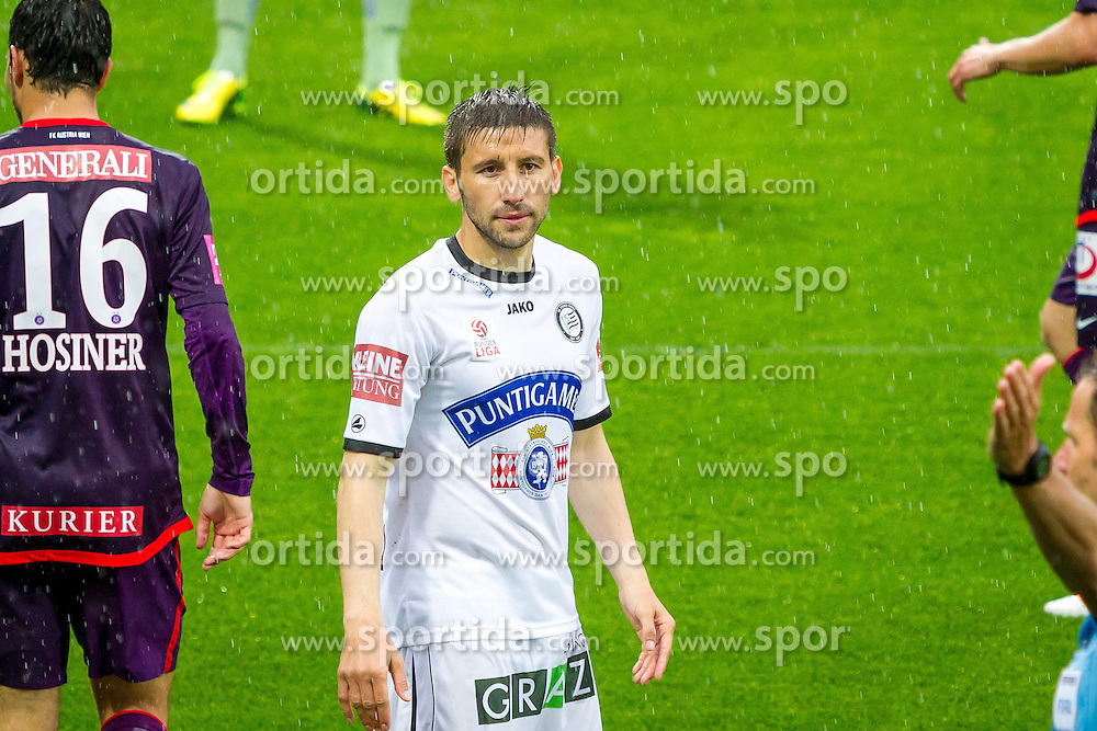 11.05.2014, Generali Arena, Wien, AUT, 1. FBL, FK Austria Wien vs SK Sturm Graz, 36. Runde, im Bild Aleksandar Todorovski , (SK Sturm Graz, #4)// during Austrian Bundesliga Football Match, 36th Round, between FK Austria Wien and SK Sturm Graz at the Generali Arena, Vienna, Austria on 2014/05/11. EXPA Pictures © 2014, PhotoCredit: EXPA/ Sebastian Pucher